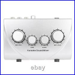 Nkr N-1 Karaoke Sound System Echo Mixer Dual Mic Inputs Amplifier