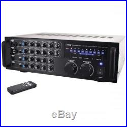 PYLE PMXAKB1000 1000-watt Bluetooth Stereo Mixer Karaoke Amp