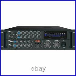 PYLE PMXAKB2000 2,000-Watt Bluetooth Stereo Mixer Karaoke Amp