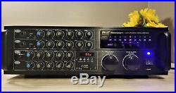 PYLE PMXAKB2000W Bluetooth Karaoke Mixer + Amplifier for Home Office USB/SD