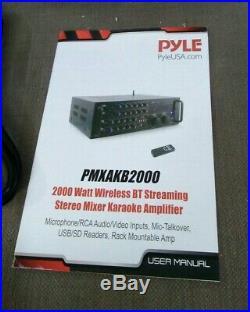 PYLE PRO PMXAKB2000 Pyle Pro 2,000-Watt Bluetooth Stereo Mixer Karaoke