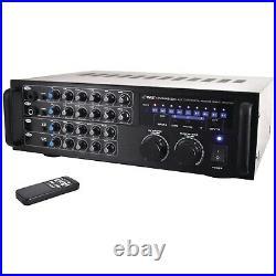 PYLE PRO(R) PMXAKB1000 Pyle Pro(R) 1,000-Watt Bluetooth(R) Stereo Mixer Karao