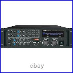 PYLE PRO(R) PMXAKB2000 2,000-Watt Bluetooth Stereo Mixer Karaoke Amp