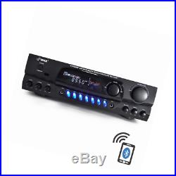 PYLE PT265BT Bluetooth 200W Digital Receiver Amplifier for Karaoke Mixing with T