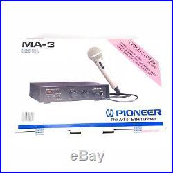 Pioneer Digital Echo MA-3 Karaoke Mixer With DM-21A Mic New Open Box