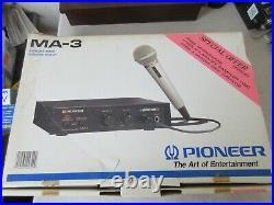 Pioneer Ma-3 Karoke Mixer New Old Stock Open Box + Bonus Dm-21a MIC