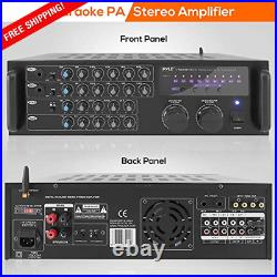 Portable Wireless Bluetooth, Stereo Mixer Karaoke Amplifier System With Dual Mic