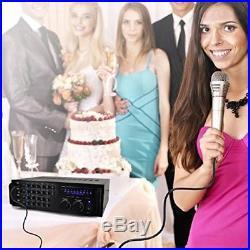 Pro 1000-Watt Portable Wireless Bluetooth Stereo Mixer Karaoke Amplifier