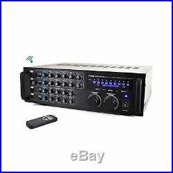 Pro 1000-Watt Portable Wireless Bluetooth Stereo Mixer Karaoke Amplifier Sy