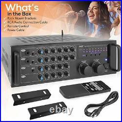 Pro 1000-Watt Portable Wireless Bluetooth Stereo Mixer Karaoke Amplifier System