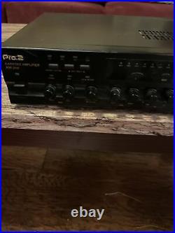 Pro. 2 OBO INC Karaoke Stereo Amplifier/Mixer KM-200 TESTED WORKS