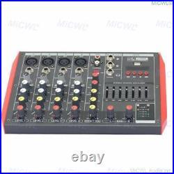 Pro 6 Microphone Channel Bluetooth Mixing Console Karaoke Mixer USB 48V EQ