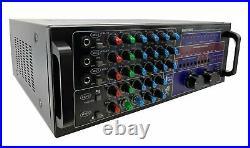 Pro Karaoke Mixer Amplifier 2500W with Bluetooth Recording HDMI DJ/KJ
