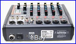 Professional Karaoke Mixer 6 Channel Mixer With USB Effects And Phantom Power