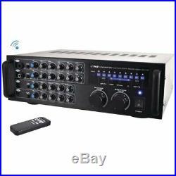 Pyle 1,000-Watt Bluetooth Stereo Mixer Karaoke Amplifier PMXAKB1000
