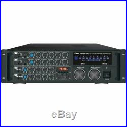 Pyle 2,000-Watt Bluetooth Stereo Mixer Karaoke Amplifier PMXAKB2000