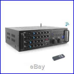 Pyle 2000 Watt Bluetooth Stereo Mixer Karaoke Amplifier, Microphone/Rca Audio