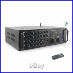 Pyle 2000 Watts (1000W + 1000W At 4 Ohms) Dj Karaoke Mixer And Amplifier With