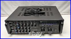 Pyle 2000W PMXAKB2000 DJ Karaoke Mixer Amplifier, Missing Remote & FX Loop Pins