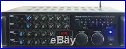 Pyle Bluetooth 2000 watt Karaoke Mixer Rack Mount Mixing Amplifier USB/SD Aux In