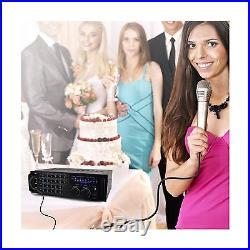Pyle PMXAKB1000 1000 Watt DJ Karaoke Mixer and Amplifier with. Free Shipping