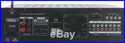 Pyle PMXAKB2000 2000 Watt DJ Karaoke Mixer Amp with Bluetooth 2 Mic with effects EQ