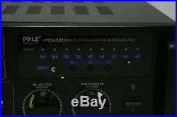 Pyle PMXAKB2000 2000 Watt DJ Karaoke Mixer & Amplifier w Built In Bluetooth