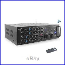 Pyle PMXAKB2000 2000 Watt DJ Karaoke Mixer and Amplifier with Built-in 2