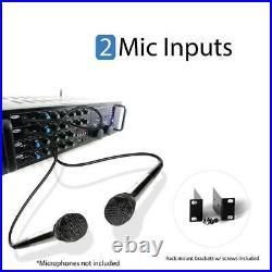 Pyle PMXAKB2000 2000 Watt Karaoke Mixer Audio Amplifier RCA Bluetooth Remote
