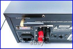 Pyle PMXAKB2000 2000 Watt Wireless Bluetooth Stereo Mixer Karaoke Amplifier
