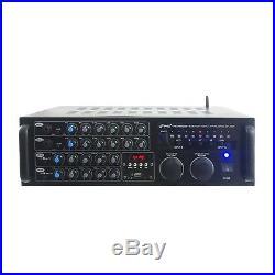 Pyle PMXAKB2000 2000 Watts (1000W + 1000W at 4 Ohms) DJ Karaoke Mixer and