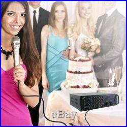 Pyle PMXAKB2000 2000 Watts (1000W + 1000W at 4 Ohms) DJ Karaoke Mixer and Amp