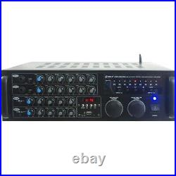 Pyle PMXAKB2000 B. T Stereo Mixer Karaoke Amplifier, 200
