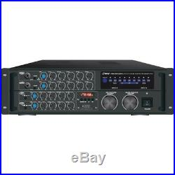Pyle PMXAKB2000 BT Stereo Mixer Karaoke Amplifier 2000 Watt
