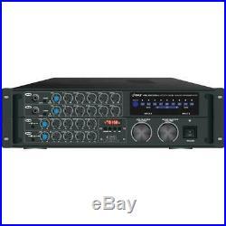 Pyle PMXAKB2000 Bluetooth Stereo Mixer Karaoke Amplifier 2000 Watt