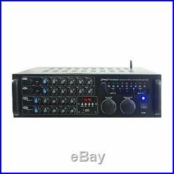 Pyle PMXAKB2000 DJ Karaoke Mixer & Amplifier with Built-in Bluetooth, 2000 watt