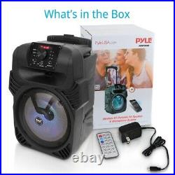 Pyle PPHP844B Portable Bluetooth Speaker System with Flashing Party Lights(Used)