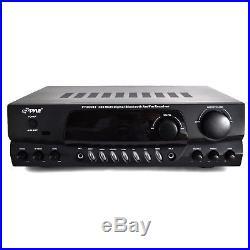 Pyle PT265BT 200W Bluetooth Receiver Amplifier AM/FM 2 MIC Inputs Karaoke