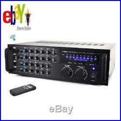 Pyle Pmxakb1000 1000 Watt Bluetooth Stereo Mixer Karaoke Amplifier, Microphone