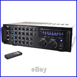Pyle Pmxakb1000 1000W Bt Karaoke Mixer Amp 2Mic Input Rca And Vid Rck Mntble