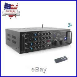 Pyle Pmxakb2000 2000 Watt Bluetooth Stereo Mixer Karaoke Amplifier, Microphone