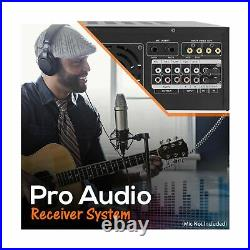 Pyle Portable Stereo Mixer Karaoke Amplifier Wireless Bluetooth Dual Mic RCA New