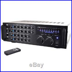 Pyle Pro 1000 Watt Portable Wireless Bluetooth Stereo Mixer Karaoke Amplifier