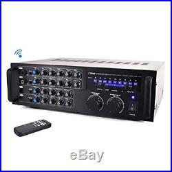 Pyle Pro 1000 Watt Portable Wireless Bluetooth Stereo Mixer Karaoke Amplifier Sy