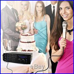 Pyle Pro 1000-Watt Portable Wireless Bluetooth Stereo Mixer Karaoke PMXAKB1000