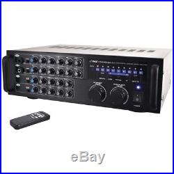 Pyle Pro 1000-watt Bluetooth Stereo Mixer Karaoke Amp PYLPMXAKB1000