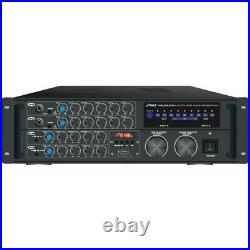 Pyle Pro 2000-Watt Bluetooth Stereo Mixer Karaoke Amp PMXAKB2000