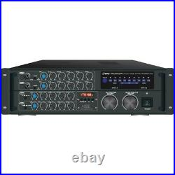 Pyle Pro 2000 watt Bluetooth Karaoke Amp Rack Mount Sound Mixer Audio Home Stere