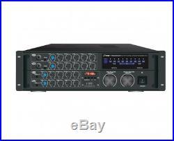 Pyle Pro Bluetooth Karaoke Amplifier 2000 Watt Rugged Mountable Mixing Amplifier