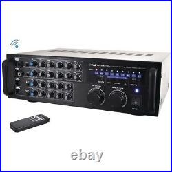 Pyle Pro PMXAKB1000 1000-Watt Bluetooth Stereo Mixer Karaoke Amp